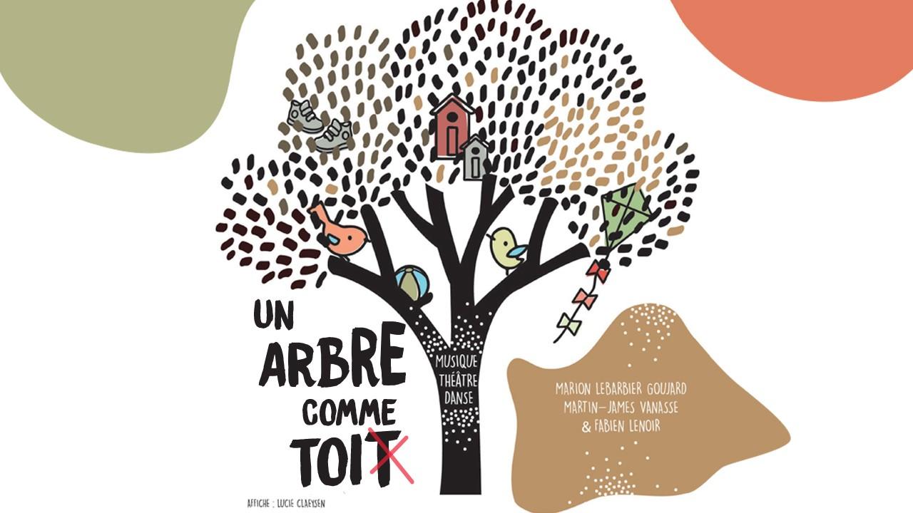 affiche spectacle jeune public Un arbre comme toit