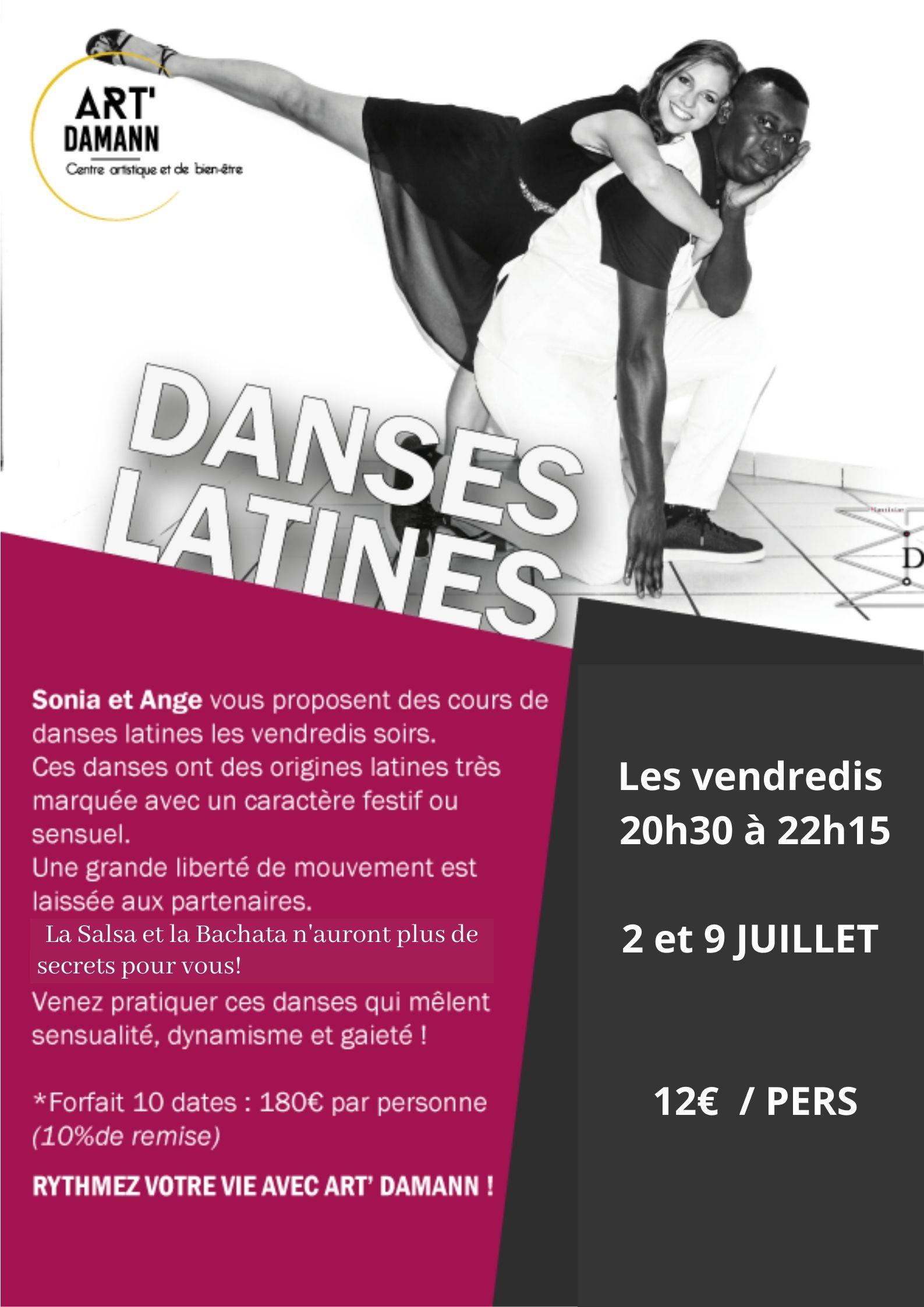 danses latines 2 et 9 juillet
